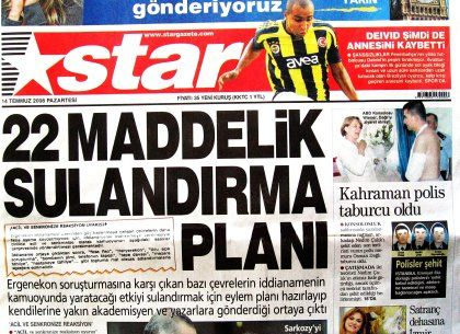 Haber yok ama Star'da manşet var